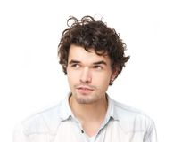 Horizontal Portrait of a Handsome Young Man Royalty Free Stock Image