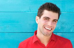 Horizontal portrait of a happy smiling young man Stock Photo