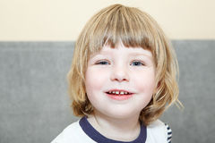 Horizontal portrait of small smiling girl Royalty Free Stock Images