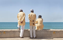 Three stoges waitng time pass Royalty Free Stock Photography