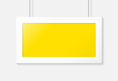 Horizontal poster frame. Vector template design. Horizontal poster frame on a gray wall. Vector template design Royalty Free Stock Images