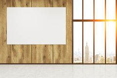 Horizontal poster in office lobby Stock Images