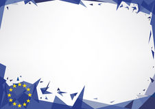 Horizontal poster origami of europe Royalty Free Stock Photos