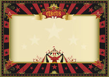 Horizontal poster red black circus Stock Image