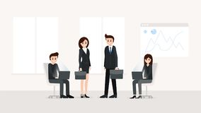 Business people working at office royalty free stock image
