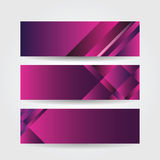Horizontal purple banners Royalty Free Stock Images