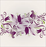 Horizontal purple ornament Royalty Free Stock Image