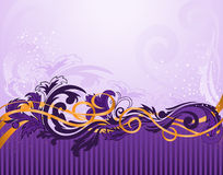 Horizontal purple pattern with  stripes Royalty Free Stock Image