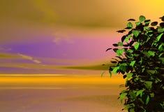Horizontal rêveur Images libres de droits