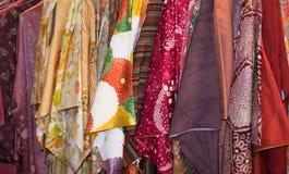 Horizontal Rack of Kimonos Stock Photo