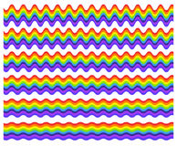 Horizontal rainbow element with different level of distortion Royalty Free Stock Photos