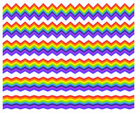 Horizontal rainbow element with different level of distortion Royalty Free Stock Photography
