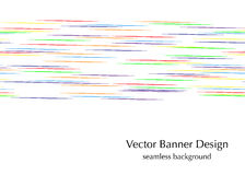 Horizontal rainbow lines. Seamless vector banner design Royalty Free Stock Images