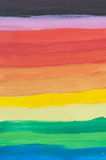 Horizontal rainbow painted brush strokes royalty free stock photo