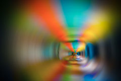 Horizontal rainbow spiral Stock Photography