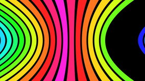 Horizontal Rainbow Strips V1 - 4K Ultra HD stock footage
