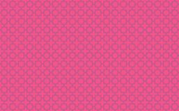 Star and cross tile-like design with blue accents on neon pink background inspired by Moroccan tile work known as zellige. Horizontal rasterized illustration of stock illustration
