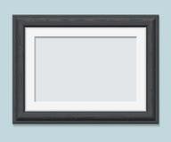 Horizontal rectangular black frame a4 Stock Photos