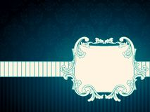 Horizontal rectangular vintage rococo label vector illustration
