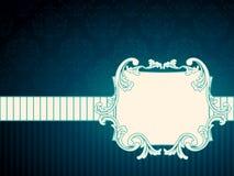 Horizontal rectangular vintage rococo label vector illustration