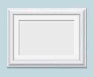 Horizontal rectangular white frame a4, vector Royalty Free Stock Photo