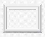Horizontal rectangular white vector frame vector illustration
