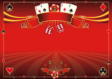 Horizontal red Casino background Royalty Free Stock Image