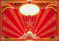 Horizontal red circus background Royalty Free Stock Image