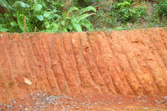 Horizontal red cliff of small level Stock Images