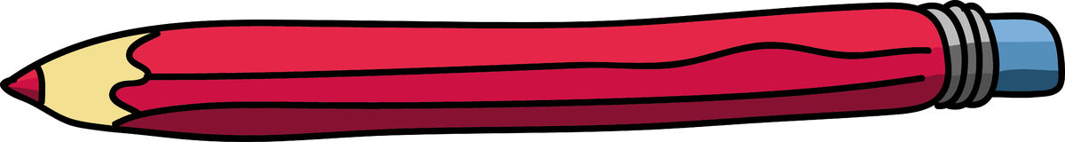 Horizontal red pencil Royalty Free Stock Photography