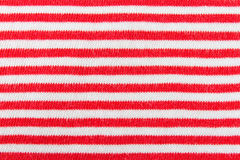 Horizontal Red and White Line Knitting Fabric Texture Pattern Ba. Red and white line knitting fabric texture background or knitted pattern background for design royalty free stock photography