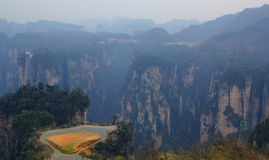 Horizontal renversant, Zhangjiajie Chine images stock