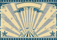 Horizontal retro blue circus Stock Photos
