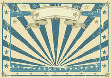 Horizontal retro blue poster Royalty Free Stock Photo