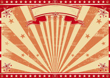 Horizontal retro red sunbeams Royalty Free Stock Images
