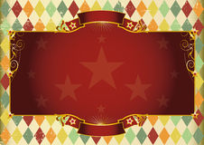 Horizontal rhombus vintage background Royalty Free Stock Photography