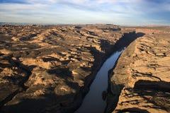 Horizontal rocailleux et fleuve photographie stock libre de droits
