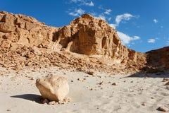 Horizontal rocheux de désert Photo libre de droits