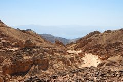 Horizontal rocheux de désert Photo stock