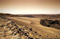 Horizontal rocheux de désert Photos libres de droits