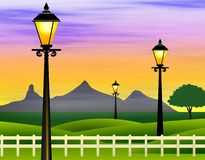 Horizontal romantique Photo libre de droits