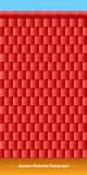 Horizontal roof tiles texture. Red tiles. Stock Photo