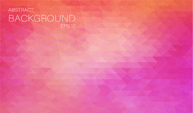 Horizontal rose color banner with triangle Stock Image