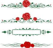 Horizontal Roses stock illustration