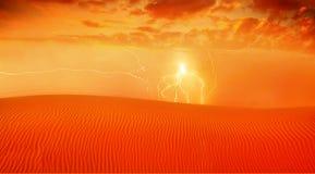 Horizontal rouge de désert Images stock