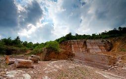Horizontal rouge de formations de roche Photos libres de droits