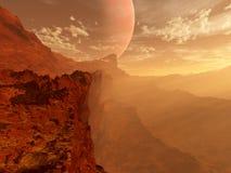 Horizontal rouge de planète Photos stock