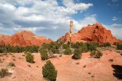 Horizontal rouge de roche Image stock