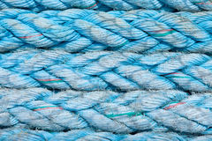 Horizontal Rows of Blue Twisted Rope Stock Images