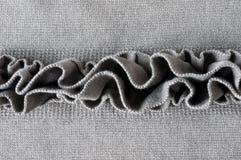 Horizontal Ruffles, detail. Close up of soft ruffles on cotton jersey Stock Photography